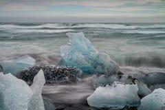 Diamond beach in Iceland Royalty Free Stock Photography