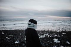 Diamond Beach, Islandia Foto de archivo
