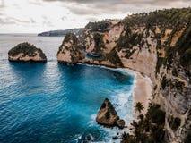 Diamond beach, Nusa Penida stock photo