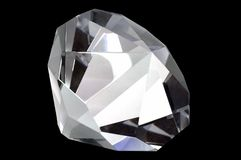 Diamond on Black Stock Photography