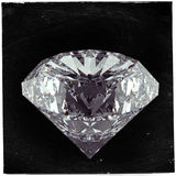 Diamond on black as vintage style Stock Photos