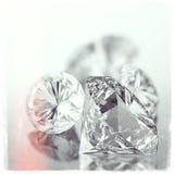 Diamond on black as vintage style Royalty Free Stock Image