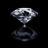 Diamond on black Royalty Free Stock Photos