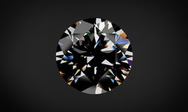 Diamond on black background with high quality. Stock Photos