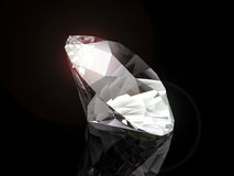 Diamond on black background Royalty Free Stock Photography