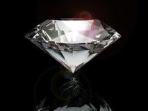 Diamond on black background Royalty Free Stock Image