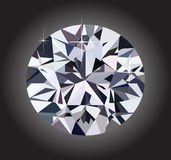 Diamond and black background Stock Photos