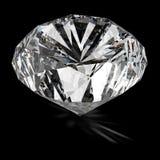 Diamond on black surface. 3d model vector illustration