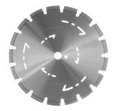 Diamond blade. For asphalt and beton cutting Stock Photo