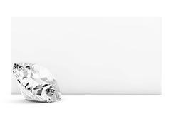 Diamond with blank paper Stock Image