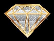Diamond bling. Diamond shape in bling bling Royalty Free Stock Photo