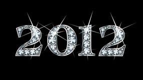 Diamond Bling 2012. Stunningly beautiful 2012 set in diamonds and silver Stock Photo