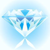 Diamond Blue. Cool Diamond Blue Vector Drawing Royalty Free Stock Photo