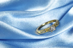 Diamond on blue Stock Photos