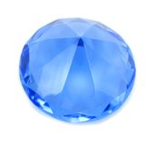 Diamond blue brilliant crystal Stock Photo