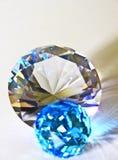 DIAMOND WITH BLUE CRYSTAL BALL Stock Photos