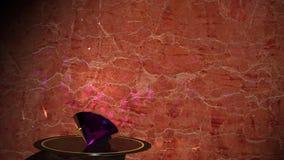 Diamond blue. Demonstration of jewelry. Diamond. Radiance, play of light, luxury stock footage