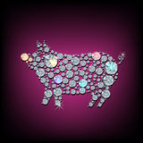 Diamond boar Royalty Free Stock Images