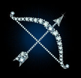 Diamond Bow And Arrow Royalty Free Stock Photos