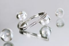 Diamond bracelet 1 Royalty Free Stock Images