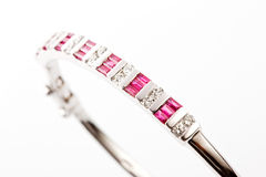 Diamond bracelet Stock Images