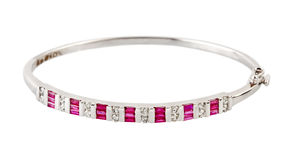 Diamond bracelet stock image
