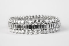 Diamond bracelet Royalty Free Stock Image