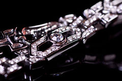 Diamond Bracelet Fotografia de Stock Royalty Free