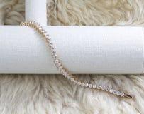 Diamond bracelet stock image