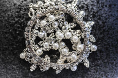 Diamond bracelet And pearls Stock Images