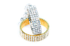 Diamond bracelets Stock Photography