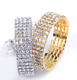 Diamond bracelets Royalty Free Stock Photos