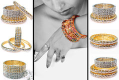 Diamond bracelets Stock Photo