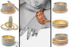 Diamond bracelets Stock Photo