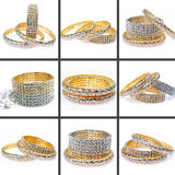 Diamond bracelets. Isolated on white background Stock Images