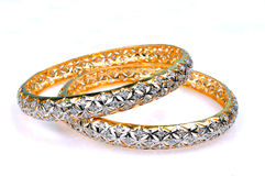 Diamond bracelets Stock Image