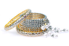 Diamond bracelets Royalty Free Stock Images