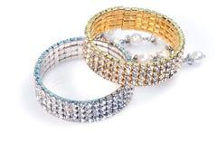 Diamond bracelets Royalty Free Stock Photography