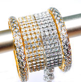 Diamond bracelets and bangles Stock Image