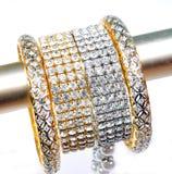 Diamond bracelets and bangles Stock Image
