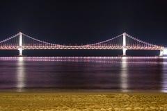 Diamond Bridge - Busán (Gwangdaegyo) Imágenes de archivo libres de regalías