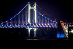 Diamond Bridge - Busán (Gwangdaegyo) Imagen de archivo libre de regalías