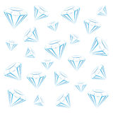 Diamond bright background Royalty Free Stock Image