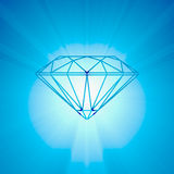 Diamond brilliant cut bright light Royalty Free Stock Photos