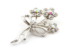 Diamond Brooch Stockfotos