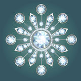Diamond brooch Royalty Free Stock Images