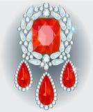 Diamond Brooch Stock Photography