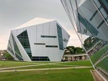 Diamond Building dell'istituto universitario di Rangsit dell'università di Bangkok Fotografia Stock Libera da Diritti