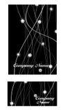 Diamond Business Card Vector negro de lujo abstracto Imagenes de archivo