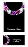 Diamond Business Card Vector noir de luxe abstrait Photos libres de droits